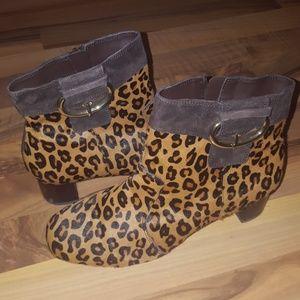 Rockport Walkability Leopard Print Booties